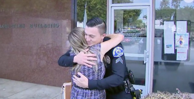 Redondo Beach Police Officer goes above and beyond for Grandmother in need after car robbery